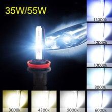 2 шт. 55 Вт H1 H3 H7 H8 H11 HB3 9005 HB4 9006 H27 880 881 Hid Xenon комплект лампы 12V 3000K 4300K 5000K 6000K 8000K 10000K Автомобильные фары