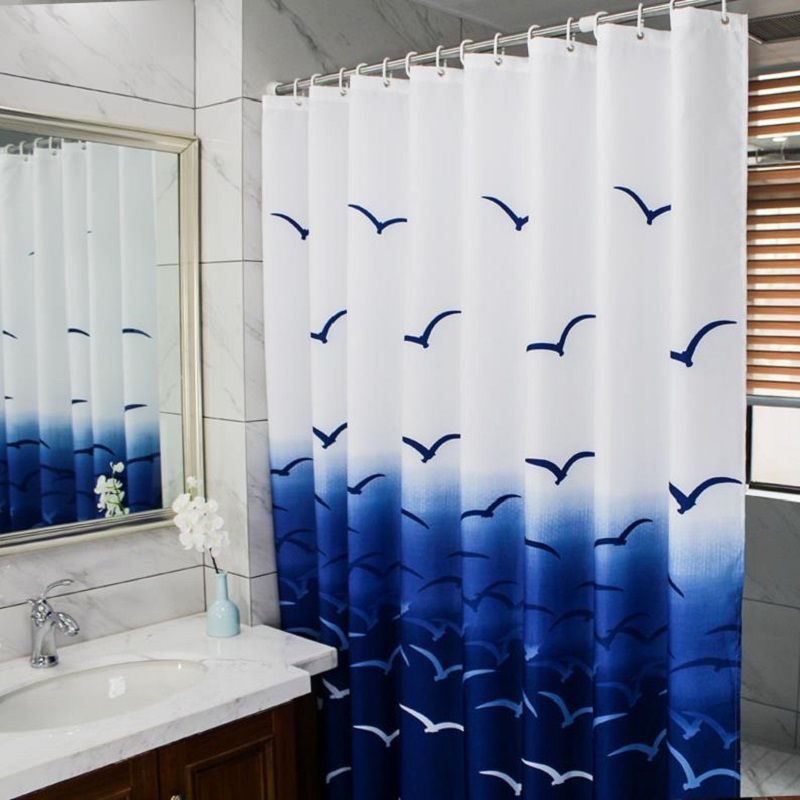 Mildew Waterproof Shower Curtain Polyester Eco Friendly Shower Curtains Sea  Scenic Curtain For The Bathroom 180*180cm,180*200cm In Shower Curtains From  Home ...