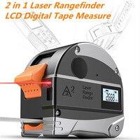 2 in 1 30M Laser Rangefinder LCD Digital Tape Measure Distance Measurer Meter Range Finder Infrared Construction GaugingTool USB