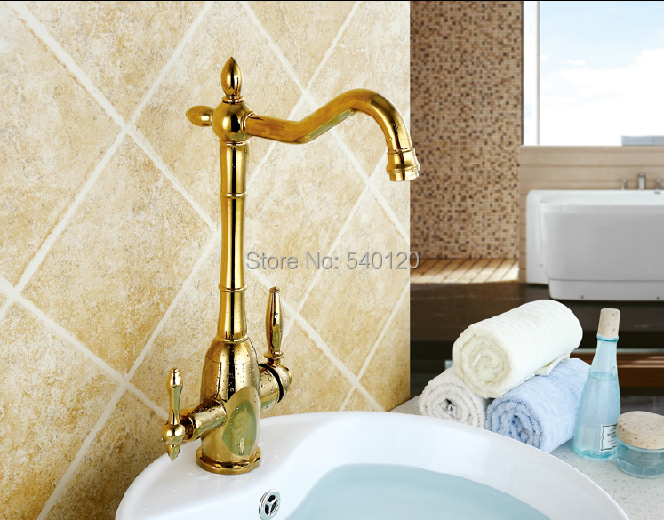 Gold kitchen faucet mixer All in one design filtered water hot cold water 3 way water