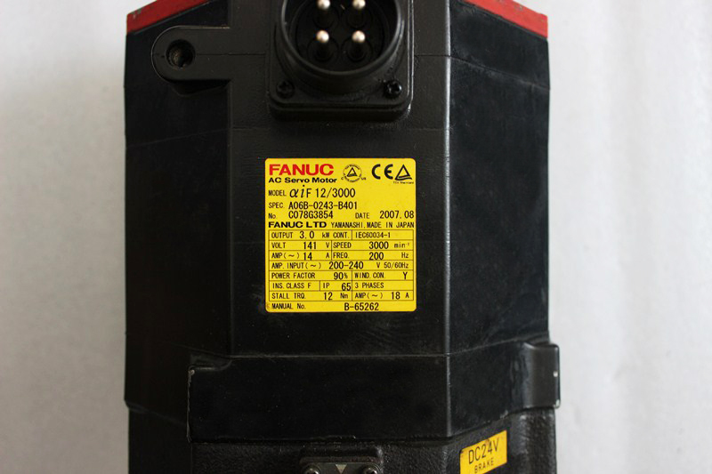 Motors & Parts Steady 0i-md Series Cnc Controller Apha If 12/4000 Fanuc Ac Servo Motor A06b-0243-b100