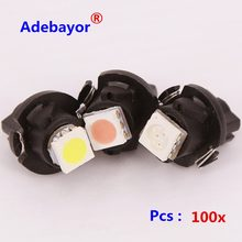 50 x Car air LED Dashboard Bulb T5 v1 t5 v2 5050 1SMD 12MM parking T6.5 instrument panel lights lamps auto lamp Adebayor led(China)