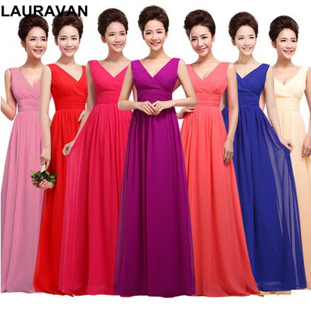 champagne red fuchsia   bridesmaids   long   bridesmaid     dresses   high fashion royal blue   bridesmaids     dress   gown 2018 free shipping