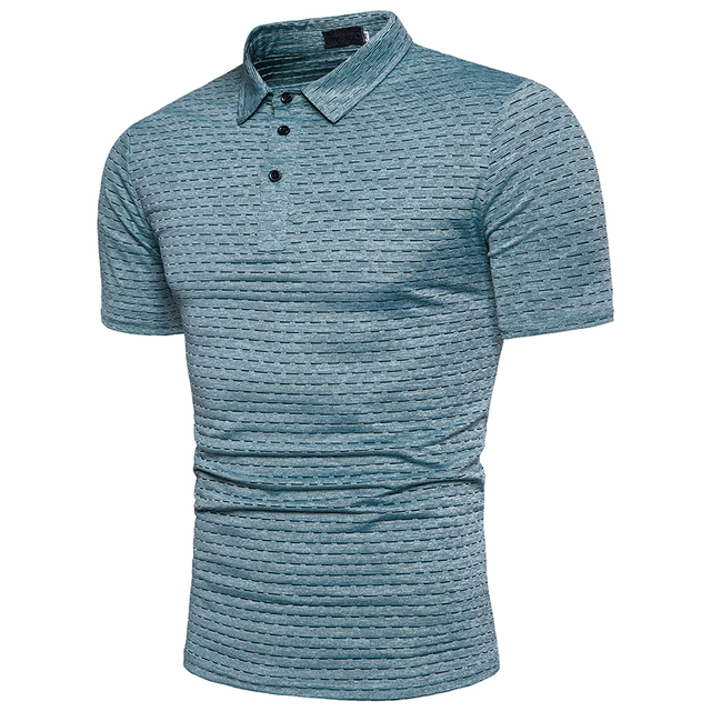 Dot Print Short Sleeve Slim Male Polo Shirt Big Size Summer Fashion Casual Streetwear Casual Shirts 3xl