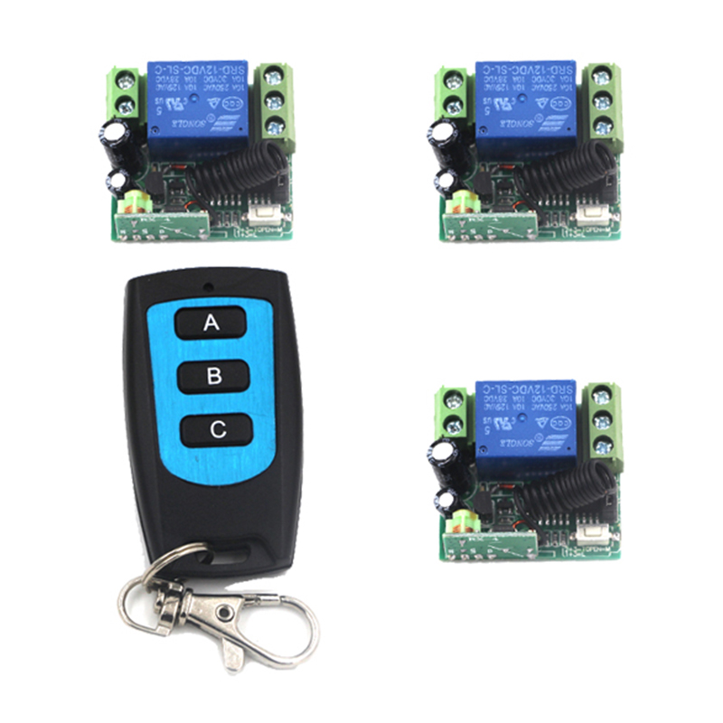Home Automation DC 12V 1CH Remote Control Light Switch RF Gate ...