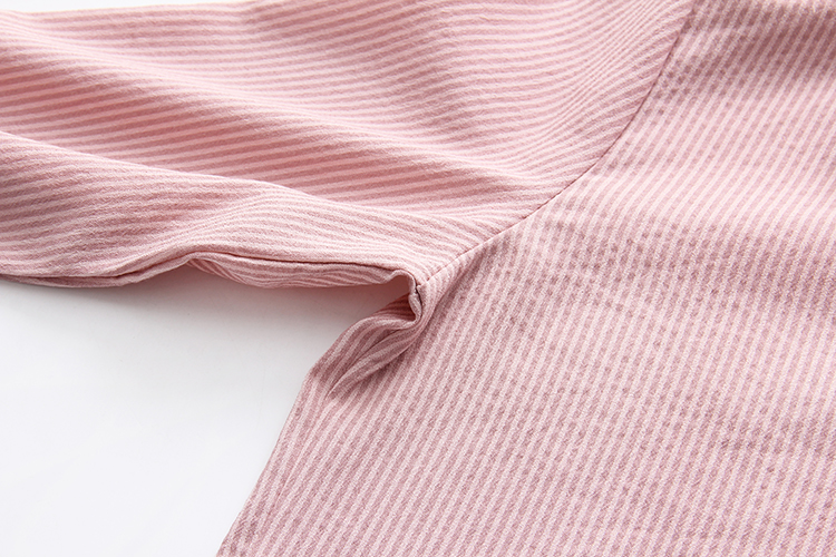 Ruffles Striped Bow Flare Long Sleeve Chiffon Blouse Shirt 14