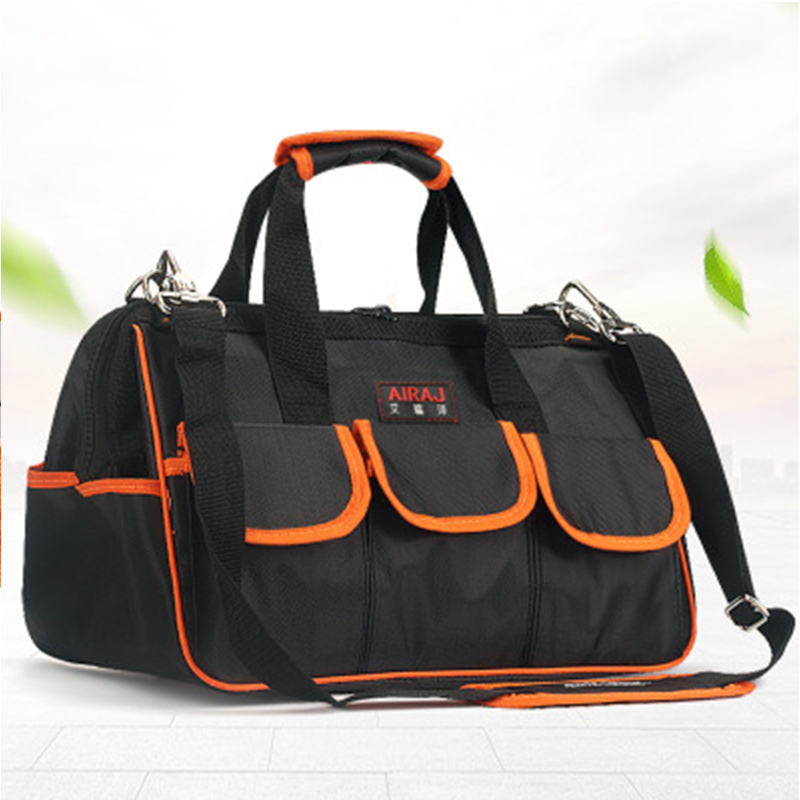 thicken oxford cloth tool bag doulbe layer canvas multifunction hand shoulder tool bag electrician hardware repair kit thickening hardware multifunctional electrical repair kit one shoulder canvas bag tool bag db005