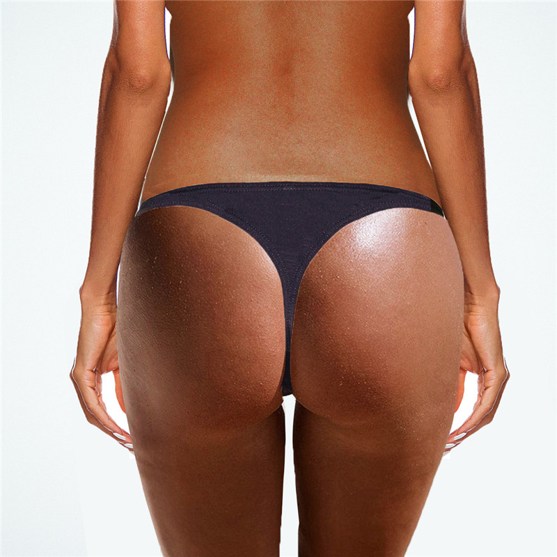 2019 New Plain Swimming Trunks Triangle Bathing Slips Women Bikini Bottom Thong Swim Briefs Brazilian Biquini Trunk Swimwear
