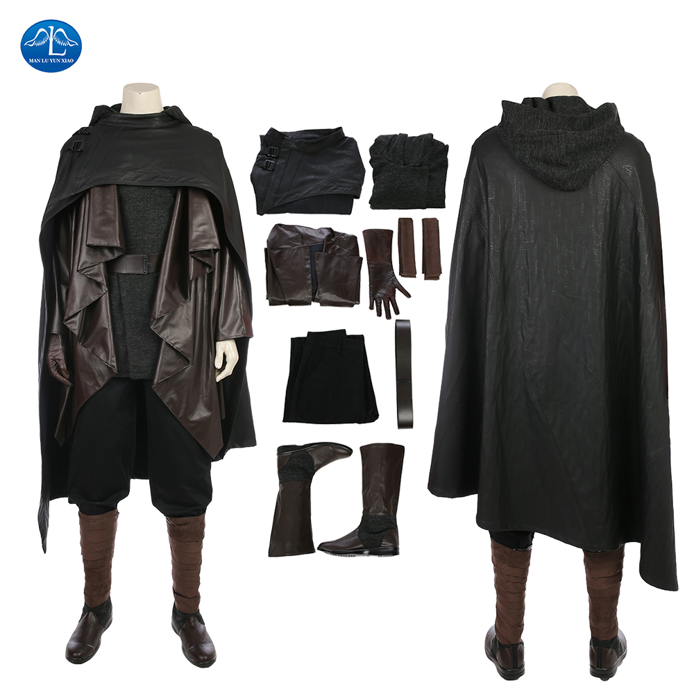 MANLUYUNXIAO New Men's Costume Star Wars The Last Jedi Luke Skywalker Costume Halloween Cosplay Costume For Men Custom Made