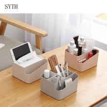 Cosmetic Organizer Tissue Box Office Storage Box Desktop Brush Holder Makeup Organizer Desk Home Sundries Container For Storage цены