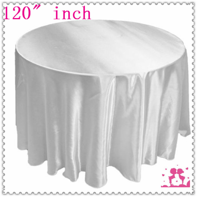 Exceptional 15pcs 120u0027u0027 Round Satin Tablecloths For Weddings Round Tablecloths White  Free Shipping(China