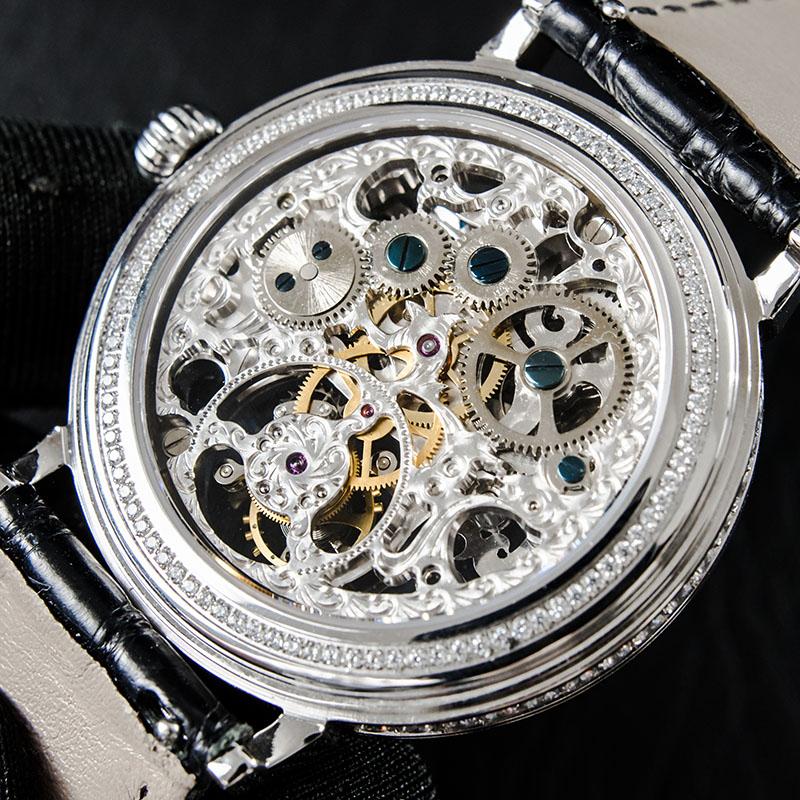 แฟชั่นผู้ชาย Skeleton Tourbillon นาฬิกา Sapphire Diamond Dial Man นาฬิกานาฬิกาผู้ชาย 50ATM กันน้ำ Reloj De Hombre-ใน นาฬิกาข้อมือกลไก จาก นาฬิกาข้อมือ บน   2