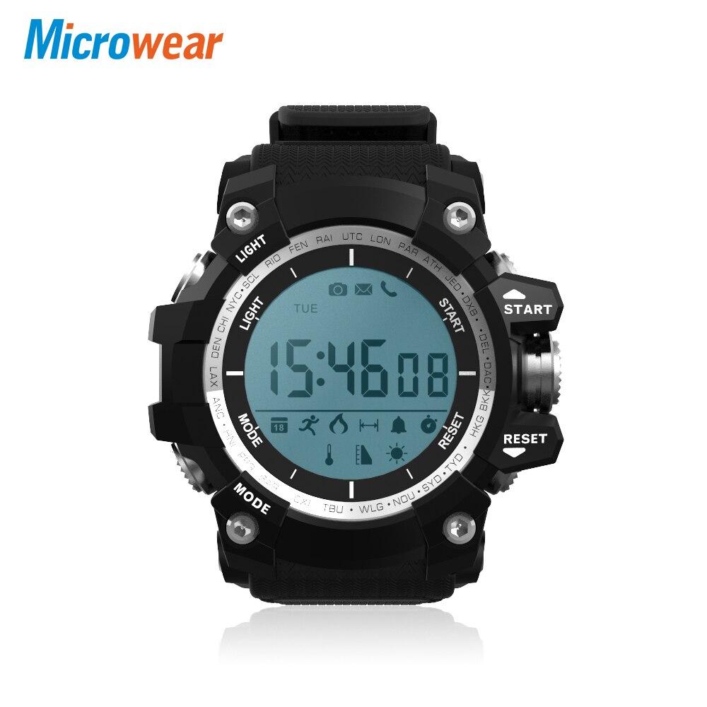 Microwear XR05 Male Smart Digital Watch Backlight Sports Tracker Temperature Display Sleep Monitor Wristwatch for Men