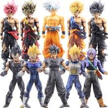 Dragon Ball Z Action Figures Super Saiyan Son Goku Vegeta 22-35cm Anime Master Figurine Collection Model Toys For Children #E
