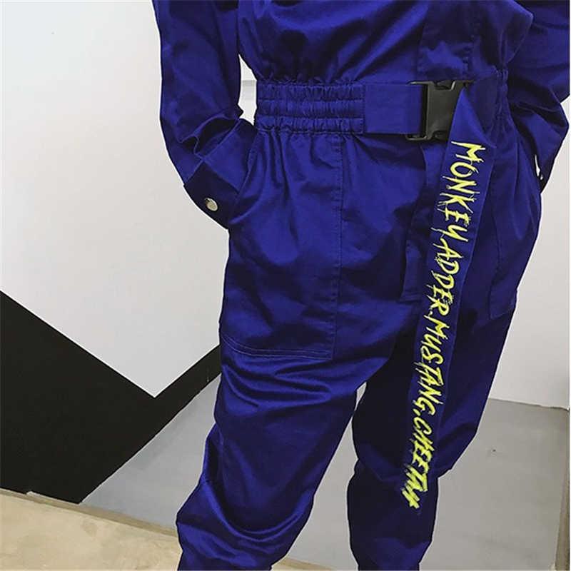 ジャンプスーツ男性長袖ワンピースオーバーオールストリートパンツファッションゆるいカジュアルなジャンプスーツ男性ヒップホップツーリングズボン YT5080