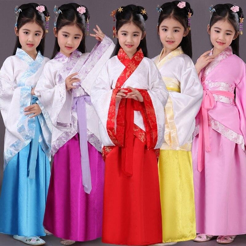 ancient chinese costume chinese traditional opera kids dynasty ming tang han hanfu dress child costume folk dance children girl