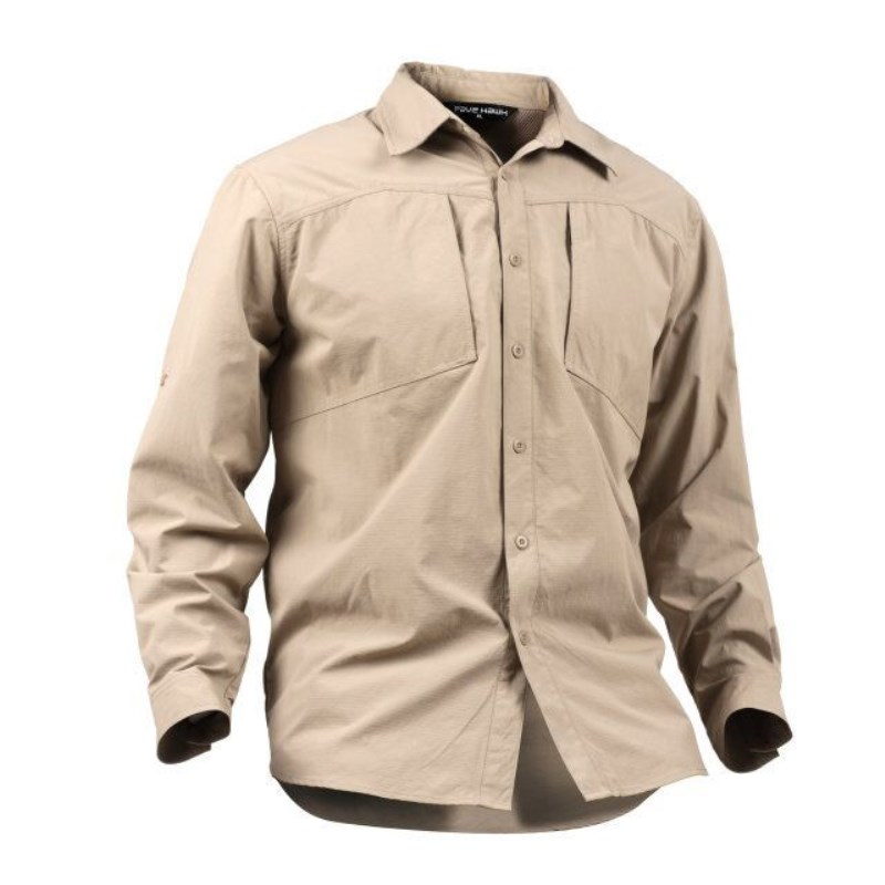 Outdoor Trekking Hiking Fishing Hunting Military Man's Shirt Army Tactical Long Sleeve Blouse Breathable Quick Dry Waterproof