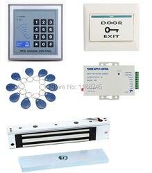 Volledige Kit RFID Deur Toegangscontrole systeem van 280 kg 620LB Magnetisch slot 110-240 V AC Deur Entry toetsenbord 10 Sleutelaanhangers Exit