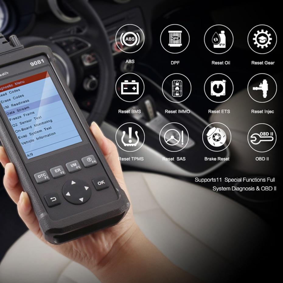 Launch CReader 9081 OBD2 Car Code Reader Reset diagnostic tool OBDII ...