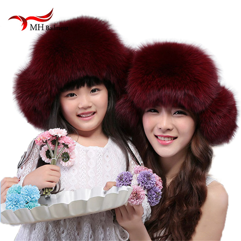 Russia Hot Item Fashion Winter Raccoon&Fox Fur Hat With Ear Flaps For Women Thick and warm Winter Cap W#58