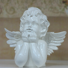 Beige angel crafts rural home decorations angel figurine ornaments character resin decoration wedding birthday gifts