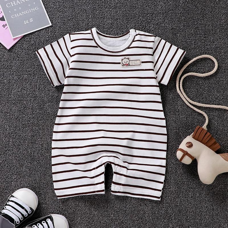 HTB1NDB0LNTpK1RjSZR0q6zEwXXaE Uniesx Newborn Baby Rompers Clothing Infant Jumpsuits 100%Cotton Stripe Children Roupa De  Girls&Boys Baby Clothes