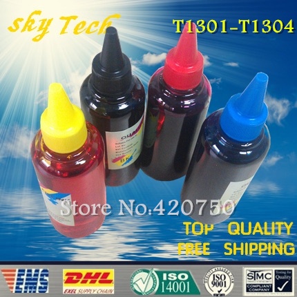 Dye refill ink Suit for Epson T1301-T1304 Cartridges ,suit for Epson SX525WD SX620FW  BX525WD BX625FWD   etc dye refill ink suit for epson t5846 cartridges suit for epson pm280 pm200 pm240 pm290 pm225 specialized ink