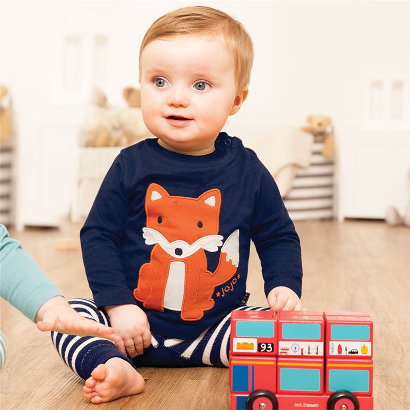 Boys Long Sleeve Tops 2017 Brand Autumn Baby Boy Sweatshirts Animal Pattern Children T shirts for Kids Boys Clothes