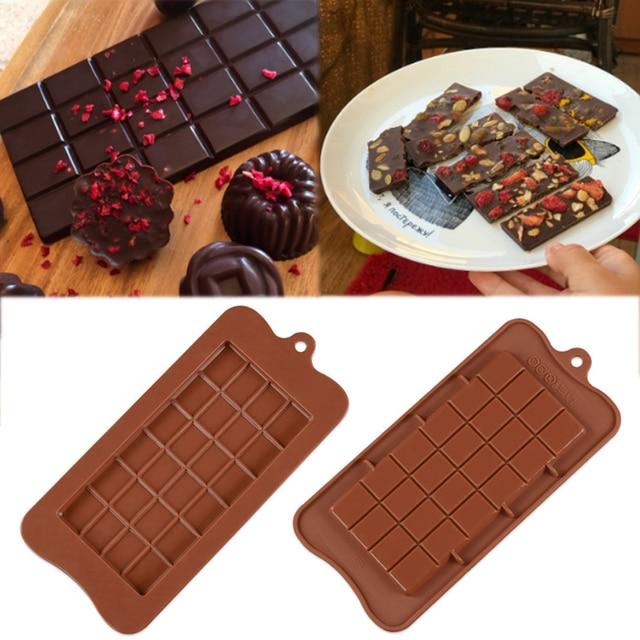 שוקולד תבניות בישול עוגת תבניות באיכות גבוהה כיכר ידידותית לסביבה סיליקון סיליקון עובש DIY 1PC מזון כיתה 24 חלל