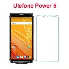 2 pces vidro temperado para ulefone power 5 à prova de explosão protetor de tela protetora filme frontal lcd para ulefone power 5 6.0 vidro