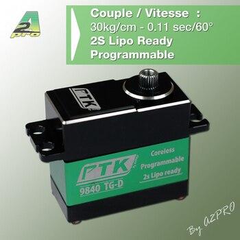 PTK 9840 TG-D 8.4V High Voltage Brushless metal Servo 35Kg (include the servo arm) full metal digital servo