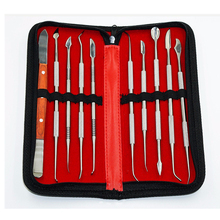 цены 10pcs/set NEW Wax Carving Tool Set Stainless Steel Versatile Kit Dental Instrument Dental Lab Equipment With Holder Case
