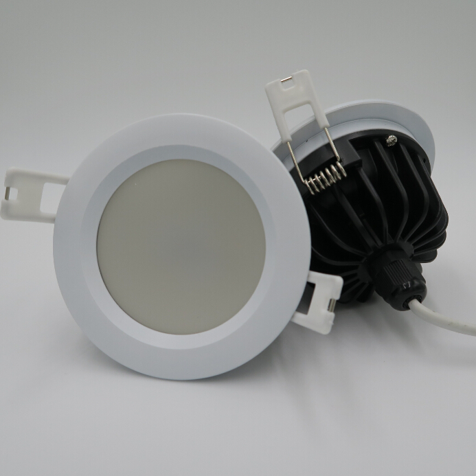 Hot Sale High quality White Shell 12W 15W Waterproof IP65 Dimmable LED downlight LED Ceiling lamp AC110V AC220V Free shipping in Downlights from Lights Lighting