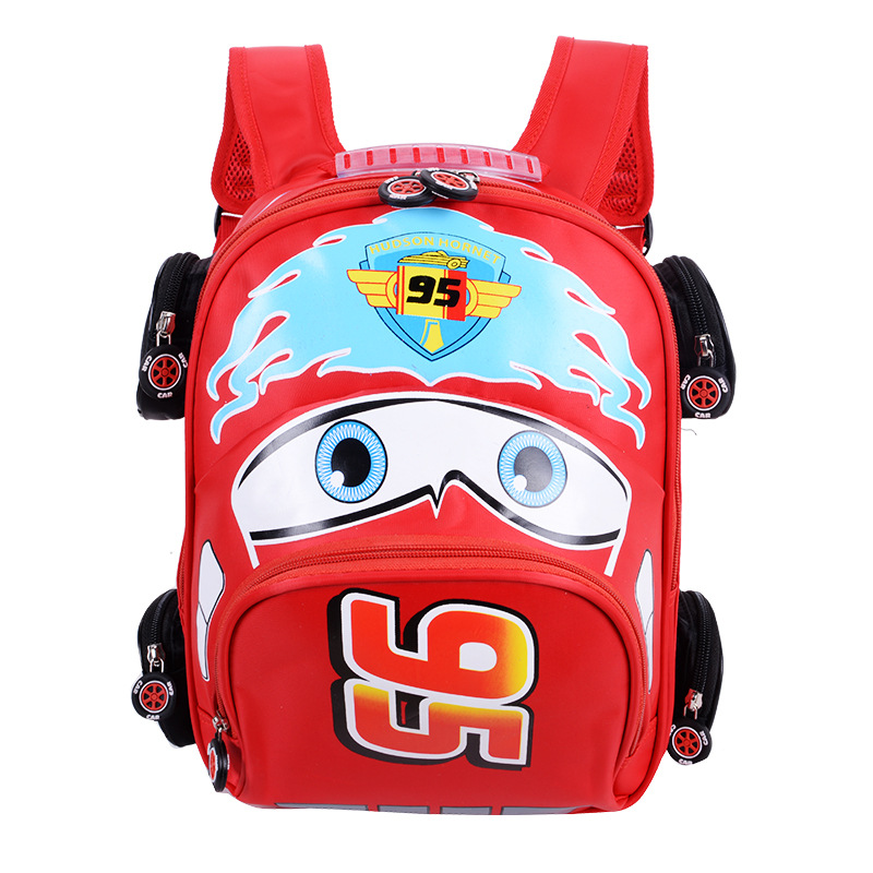 2018 New Cartoon 95 Car Boy Girl Baby Kindergarten Nursery School bag Bagpack Teenager Schoolbags Canvas Kids Student Backpacks 48