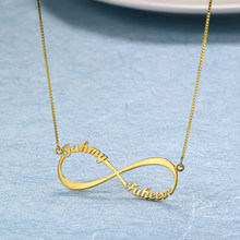 Stainless steel Infinity Custom Name Necklaces Women Necklace & Pendant Personalized Nameplate Necklace Dropshipping Lover Gift(China)