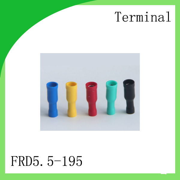 Brass 1000 PCS FRD5.5-195 cold-pressure terminal  Bullet Shaped Female Insulating Joint Cold pressed terminals/Cable C