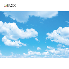 Laeacco Blue Sky And White Clouds Baby Portrait Photography Backgrounds Customized Photographic Backdrops For Photo Studio