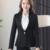 High-grade Tecido Viscos Duas Peças Calça Terno Senhoras Para O Casamento Formal Uniforme Escritório Projeta Cinza Ternos Das Mulheres de Negócios para o trabalho