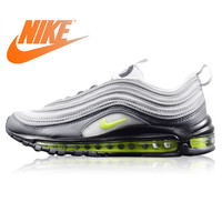 Original Nike WMNS Air Max 97 Neon Men's Running Shoes Wear resistant Light Gray Shock Absorption Non Slip Breathable 921733 003