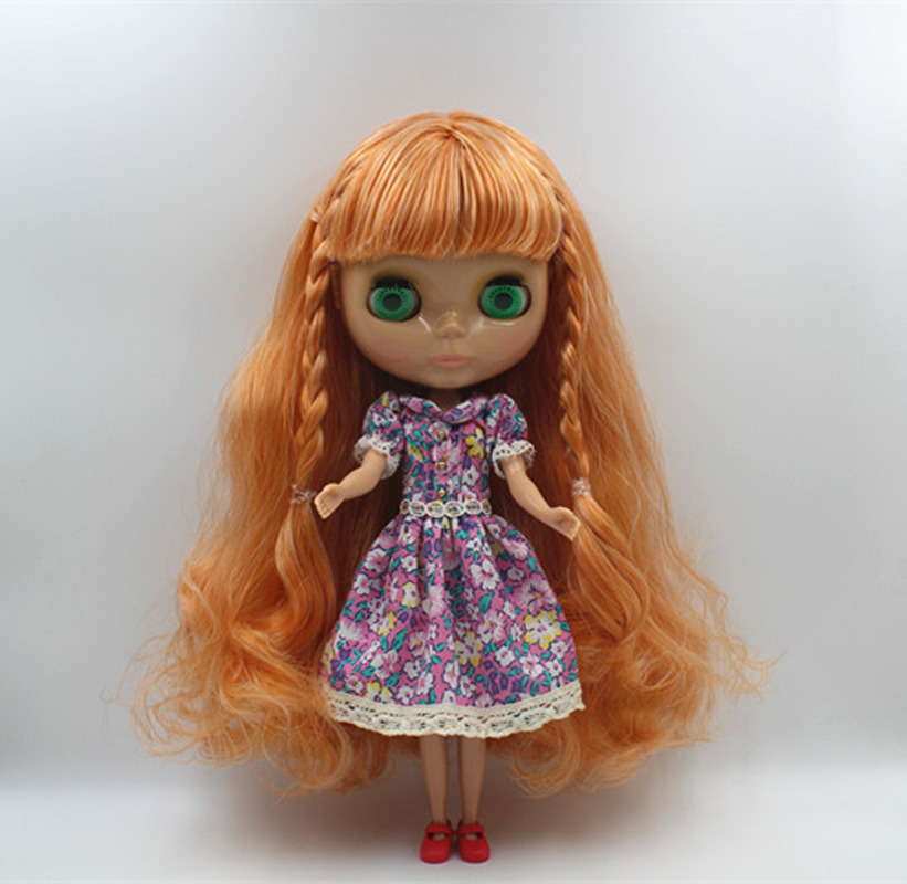 Free Shipping big discount RBL-402 DIY Nude Blyth doll birthday gift for girl 4colour big eyes doll with beautiful Hair cute toy