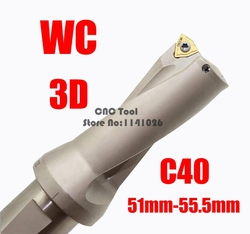 WC C40 3D SD 51 52 53 54 55 mm U wiertła typu dla WC080412MT włóż U wiercenia płytkich otworów wiertła na płytki wymienne