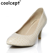 CooLcept free shipping high heel shoes platform women sexy dress footwear fashion P11016 hot sale EUR size 32-43