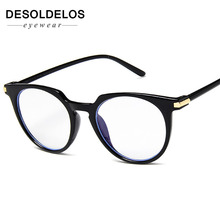 2019 Fashion Women Glasses Frame Men Eye glasses Frames Vintage Cat Clear Lens Blue Light Optical Spectacle