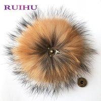RUIHU Pompom Decoration Fur Ball Keychain Craft DIY Soft Pom Poms Wedding Home Decoration Sewing On