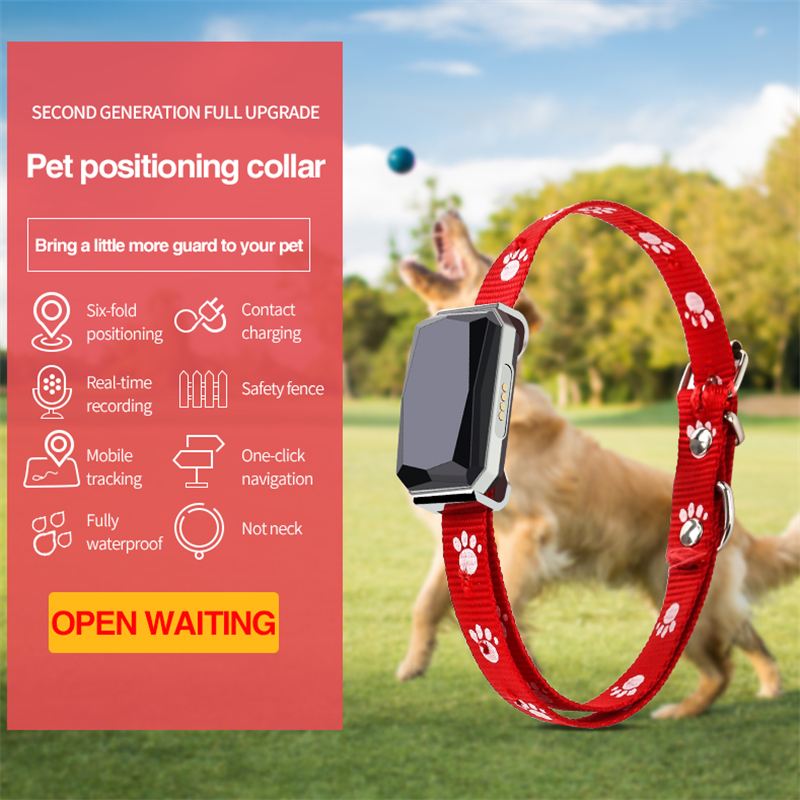 Smart GPS Tracker Mini Pets Collar GPS GSM GPRS Tracker Real time Locator GPS+LBS+WIFI Location for Dog Cat Tracking Geofence 2017 mini miniature gps tracker children old man pet satellite locator gsm gprs wifi car real time tracking alarm