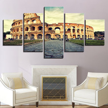 HD Prints Posters Wall Art No Frame Canvas Modular Pictures 5 Pieces Colosseo Colosseum Paintings For Living Room Home Decor(China)