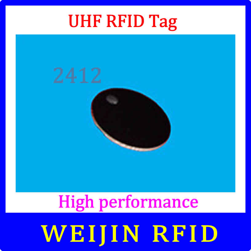 VIKITEK UHF RFID tag 920-925MHZ EPC small circular Ceramic tag D24mm*1.2mm C1G2 ISO18000-6C Alien Higgs3 chip 500pcs rfid one off coated paper wristbands tag epc gen2 support alien h3 chip used for personnal management