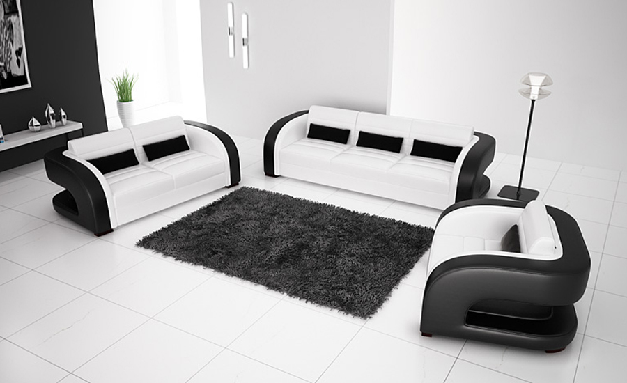 Free Shipping 2013 New Classic Black   White Genuine Leather Solid Wood  Frame Modern Sofa Set living room furniture 9122 1 in Living Room Sofas  from. Free Shipping 2013 New Classic Black   White Genuine Leather Solid