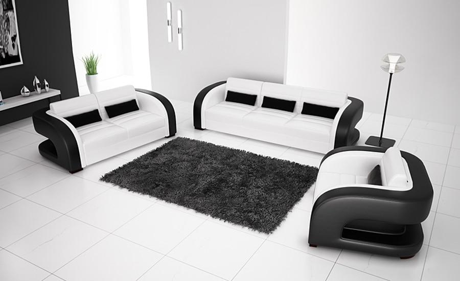 Leren Bank Modern Wit.Gratis Verzending 2013 Nieuwe Klassieke Zwart Wit Lederen Massief