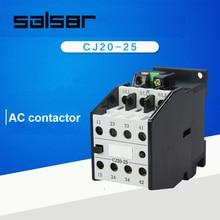 цена на CJ20-25 Motor Control 25A 12V/24V/36V/48V/110V/127V/220V/380V 50Hz Coil 3 Pole 2NO 2NC AC Contactor